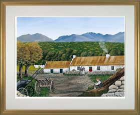 The Gap of Dunloe with Gold Frame